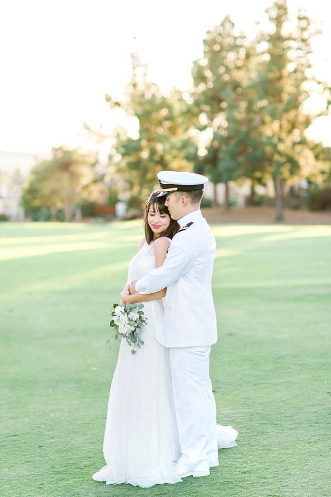 We're crushing on this stunning DIY San Diego Military wedding!
