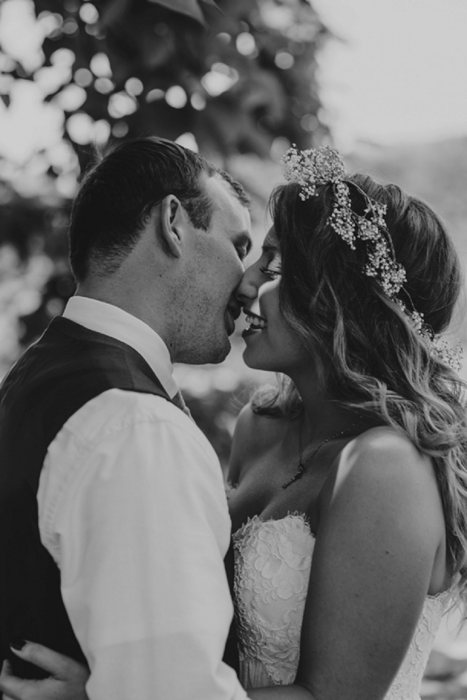 Gorgeous snap of the bride and groom by Eileen Meny Photography!