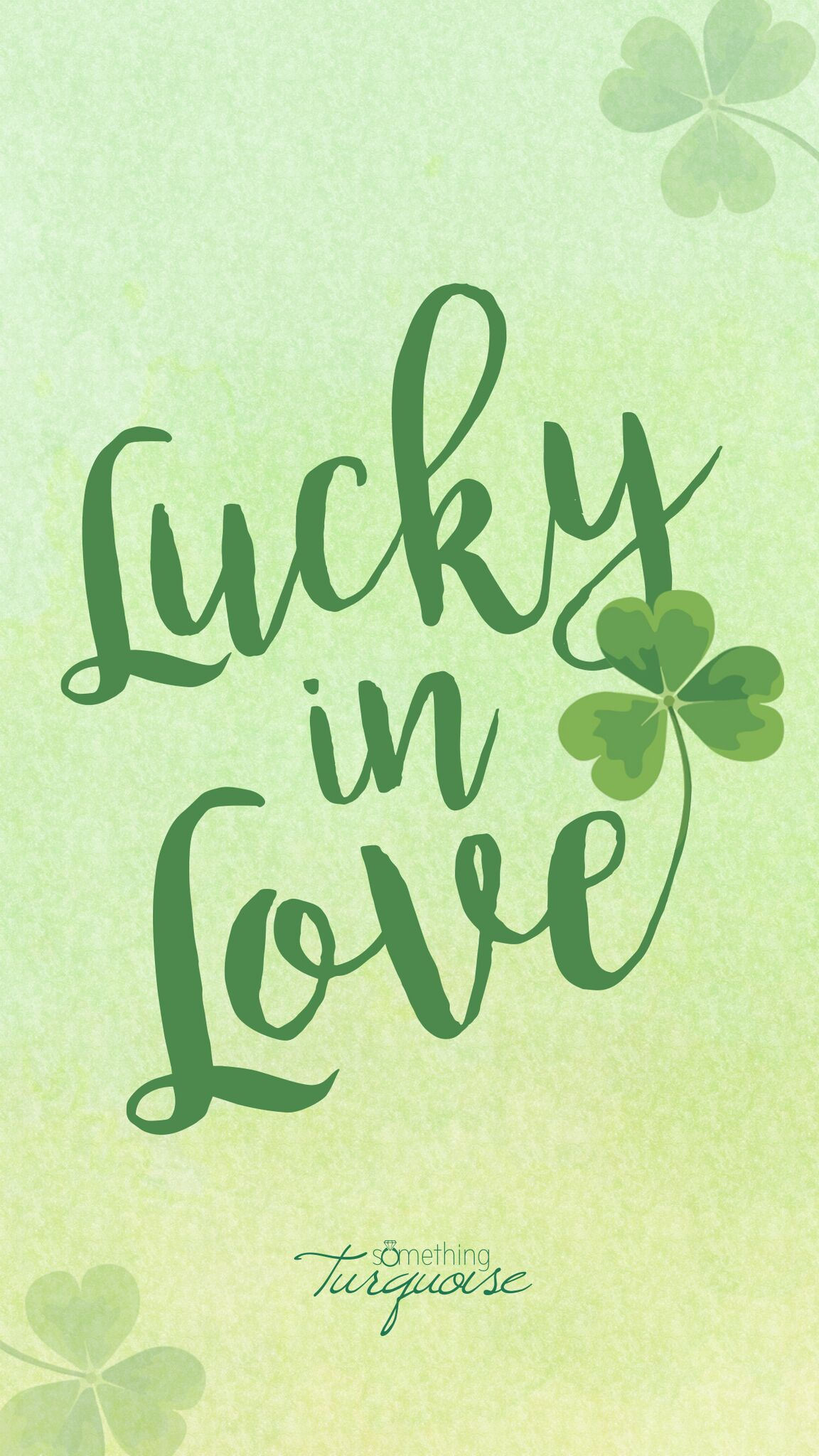 Free Lucky in Love iPhone wallpaper and lockscreen!