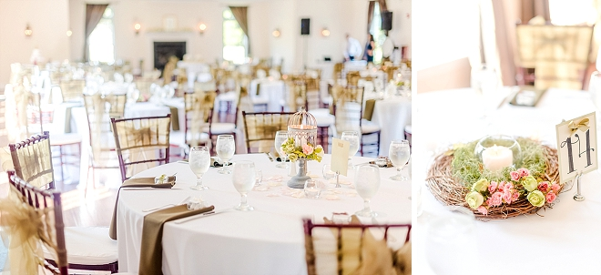 This couple's beautiful reception was perfect and romantic!