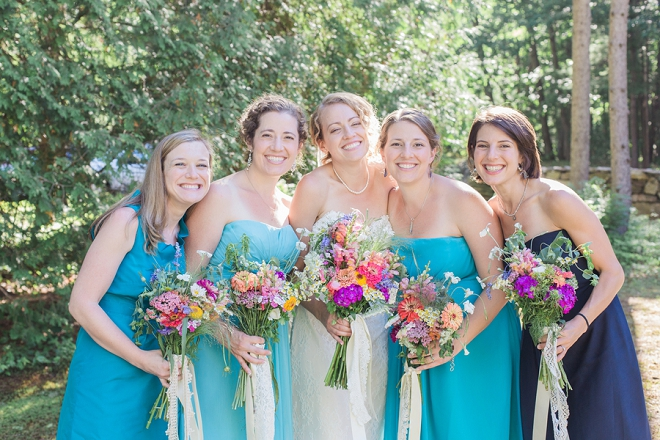 The Bride and her Bridesmaid's before the ceremony!