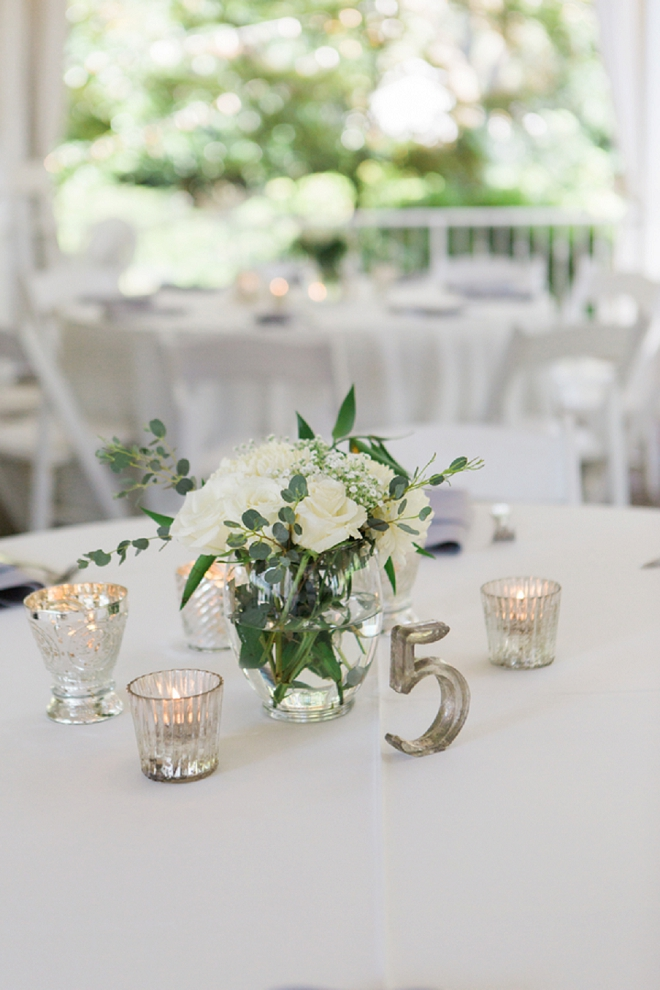 Stunning and modern metallic table numbers and florals!