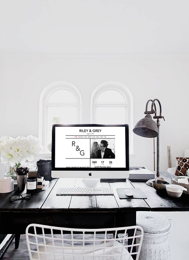 Your wedding website is an amazing place to inject your wedding brand.