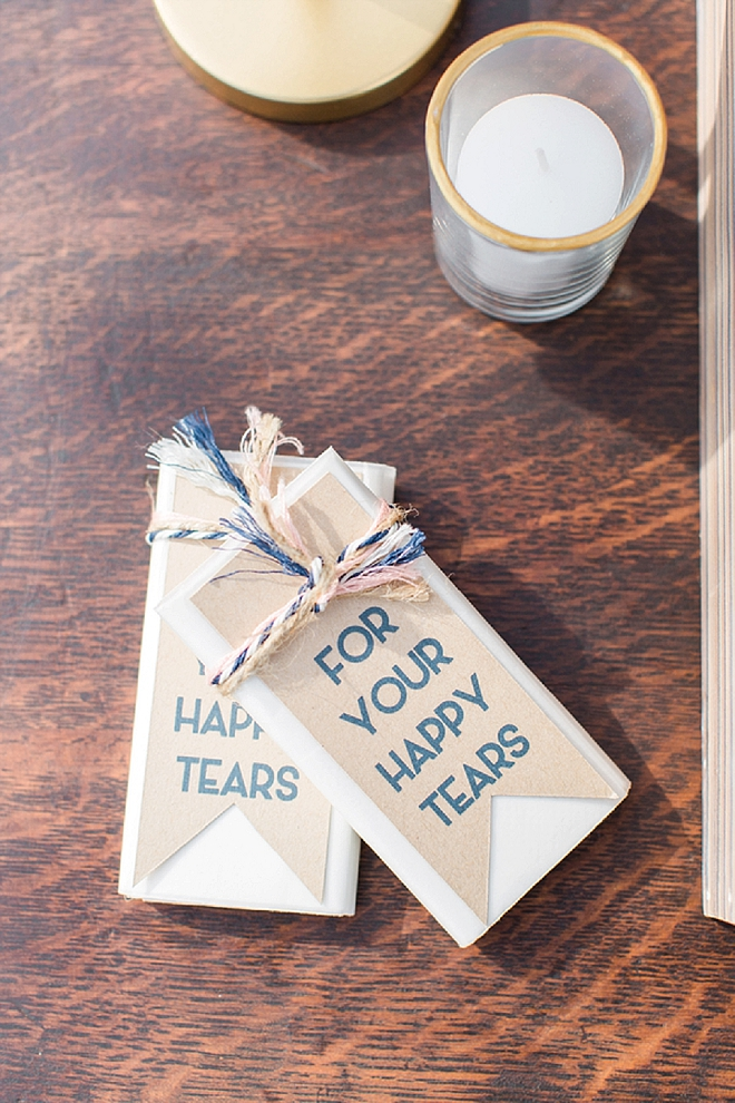 Loving these for your happy tears ceremony favors!