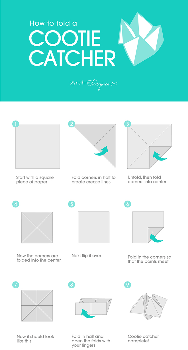 How to fold a cootie catcher... and turn it into a wedding seating card!