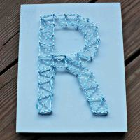 Nail String Art - Initial and Chevron