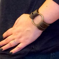 DIY Leather O-Ring Bracelet - Inspired by Joanna Gaines from Fixer Upper!