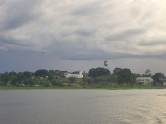 Fordlândia as seen today from the Rio Tapajós
