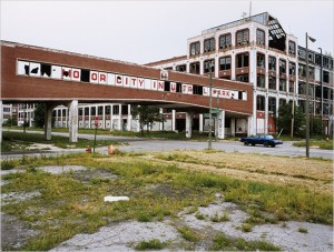 Packard factory entrance circa 2009