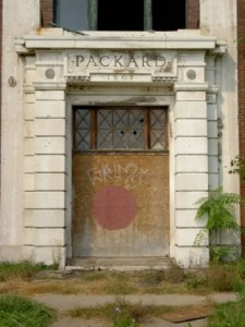 Packard Factory entry door