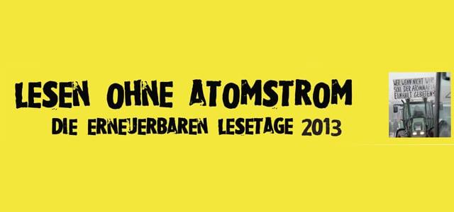 Alternative Lesetage in Hamburg: Lesen ohne Atomstrom
