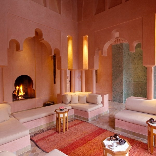 Moroccan red decor inspirations from the city of marrakech so moroccan - Moroccan living room design ...
