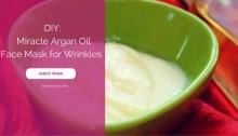Argan Oil for Wrinkles face mask