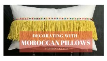 decorating with moroccan pillows