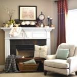 Vintage Fall Mantel- Sondra Lyn at Home
