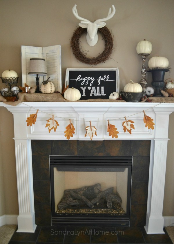 Fall Mantel 2015 - Sondra Lyn at Home.com