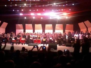 2012'VIII. El Salvador. Concierto en el Teatro Presidente - Latinoamérica con la batucada
