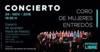 2016'XI'24. Madrid. Concierto del Coro Entredós - cartel