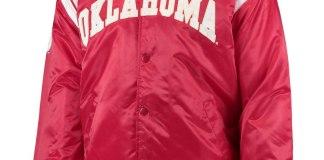 OU Mens Red Satin Jacket