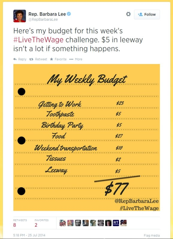 barbara lee live the wage tweet-1