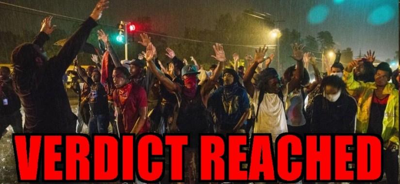 Ferguson hands up-VERDICT