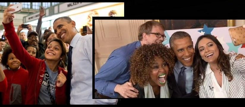 obama selfies