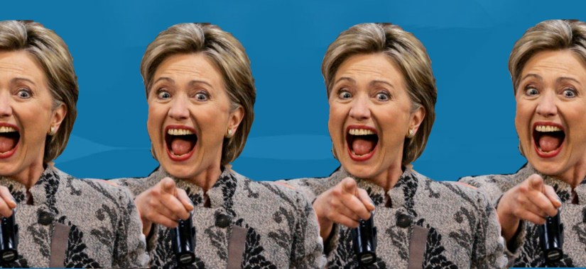 hillary clinton pointing