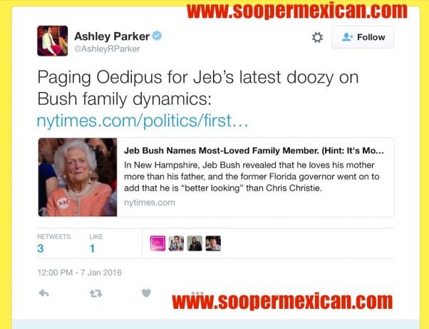 ashley parker oedipus tweet