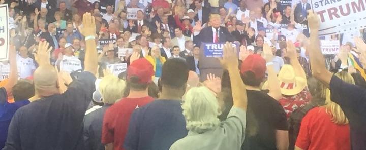 trump rally nazi salute