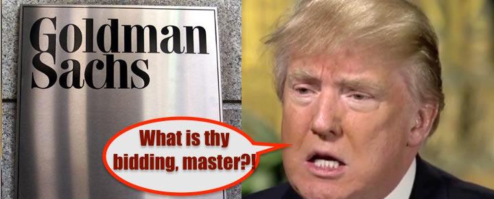 donald trump goldman sachs