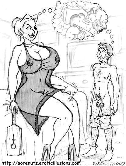 femdom women spanking men cartoon