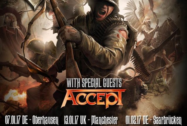SABATON And ACCEPT To Tour Europe In 2017