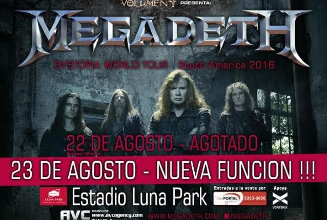 Video: MEGADETH Performs In Buenos Aires, Argentina
