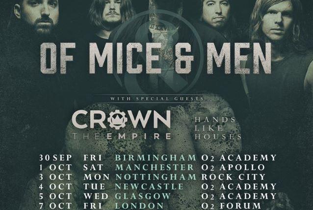 OF MICE & MEN Cancels Remaining Shows On European Tour To Focus On Singer's Health