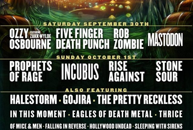 OZZY OSBOURNE, PROPHETS OF RAGE, FIVE FINGER DEATH PUNCH, ROB ZOMBIE Set For LOUDER THAN LIFE Festival