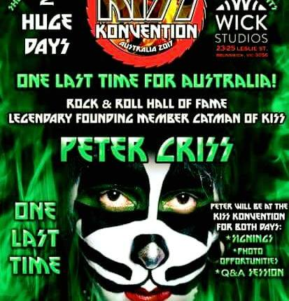 Original KISS Drummer PETER CRISS Plays 'Final' Australian Show In Melbourne; Video, Photos