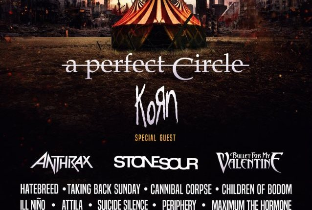 A PERFECT CIRCLE, KORN, ANTHRAX, STONE SOUR Set For KNOTFEST MEXICO