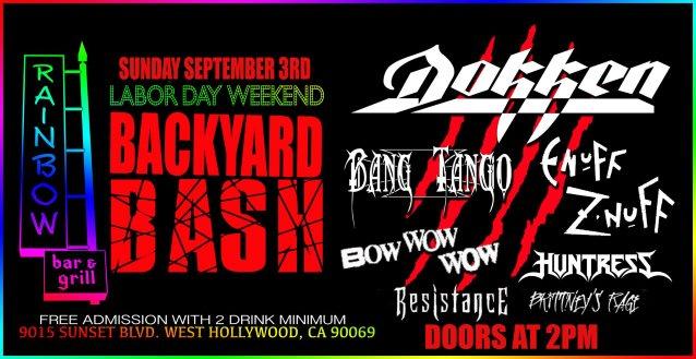 Watch DOKKEN Perform At Rainbow Bar & Grill's Labor Day Weekend Backyard Bash