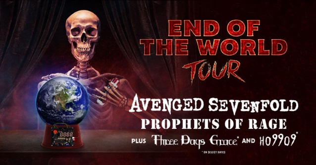 AVENGED SEVENFOLD Announces 'End Of The World Tour' With PROPHETS OF RAGE, THREE DAYS GRACE