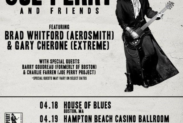JOE PERRY Joined By AEROSMITH, GUNS N' ROSES, EXTREME Members At Atlantic City Concert (Video)