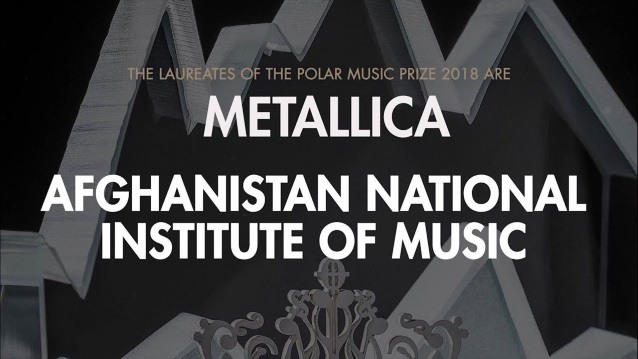 METALLICA Honored With POLAR MUSIC PRIZE; GHOST And CANDLEMASS Members Perform 'Enter Sandman' (Video)