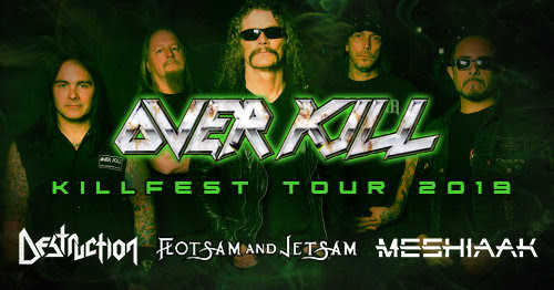 OVERKILL, DESTRUCTION And FLOTSAM AND JETSAM To Join Forces For 'Killfest' European Tour