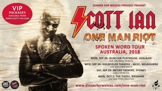 ANTHRAX Guitarist SCOTT IAN On His Spoken-Word Performances: 'I Just Kind Of Build It As I Go'
