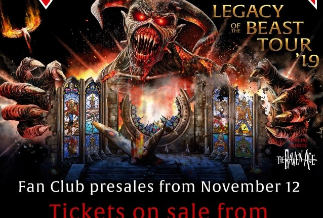 IRON MAIDEN Announces 2019 'Legacy Of The Beast' North American Tour