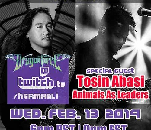 DRAGONFORCE's HERMAN LI And ANIMALS AS LEADERS' TOSIN ABASI To Take Part In Joint TWITCH Livestream