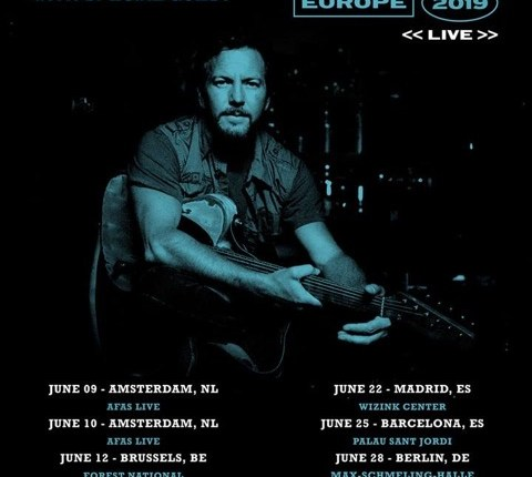 PEARL JAM's EDDIE VEDDER Announces European Solo Tour