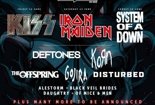 KISS, IRON MAIDEN And SYSTEM OF A DOWN To Headline 2020 Edition Of U.K.'s DOWNLOAD Festival