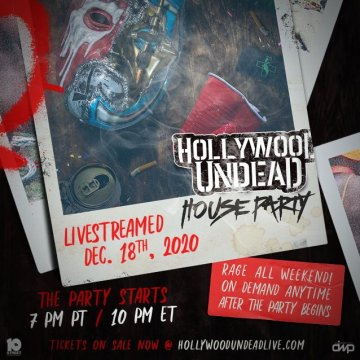 HOLLYWOOD UNDEAD Announces 'House Party' Global Pay-Per-View Event