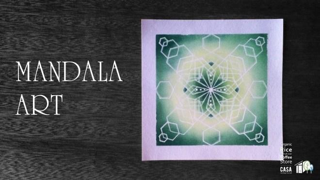 オーガニック ライスストア CASAのワークショップ 今回は曼荼羅アートです!