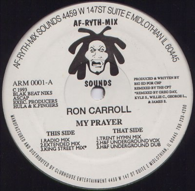 Ron Carroll My Prayer Vinyl